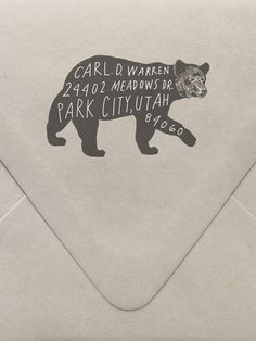 Bear Return Address Custom Stamp by Sycamore Street Press