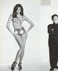 "1991 - Yasmeen Ghauri in Azzedine Alaia ""Tati"" lingerie ensemble & Azzedine Alaia by Patrick Demarchelier 4 Vogue Italia"
