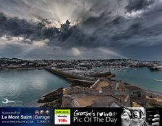 After such a lovely weekend storm clouds are now gathering over St Peter Port this evening #LoveGuernsey  http://chrisgeorgephotography.dphoto.com/#/album/cbc2cr/photo/23462576  Picture Ref: 19_05_14 — at St Peter Port Harbour.