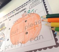 Differentiated, print and go sight word practice for fall. Just add dice!