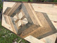 Patrón de madera rústico estilo geométrico moderno arte de la