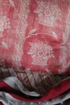 gorgeous 18th century French block printed linen