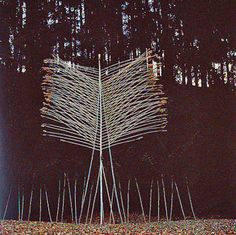 March Altar: ash poles, reeds, clematis   Priental, Bavaria, 1981