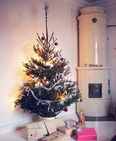 julgran christmas tree vintage