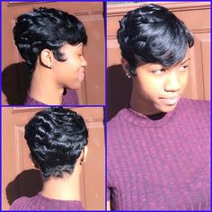 """Love this gorgeous hair cut!!! Just wear a fabulous hat!! Long hair doesn't keep your head warm #t"