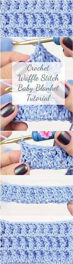 Crochet Waffle Stitch Baby Blanket Tutorial