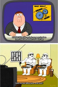These are not the droids you are looking for . - My Escape from Reality - star wars Family Guy Meme, Family Guy Quotes, Family Humor, Funny Family, Griffin Family, Peter Griffin, Funny Memes, Hilarious, American Dad