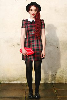 Fashionista NOW: Little Dress In Tartan Fashion Inspiration