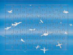 """Alighiero Boetti, """"Cieli ad alta quota"""", No. 1, 1993"""