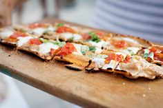 Grilled pizza - a summer must. #food #pizza