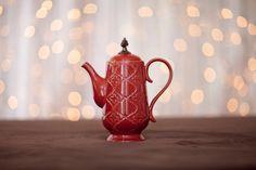Red Vintage Tea Pot