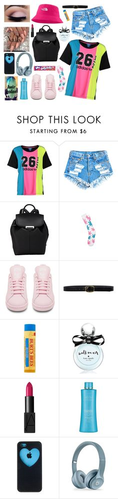 """Wanted To Be…Visible Today *inserts sticking tongue with a wink face emoji*"" by cissylion ❤ liked on Polyvore featuring adidas Originals, Alexander Wang, adidas, Linea Pelle, Burt's Bees, Kate Spade, NARS Cosmetics and Black Apple"