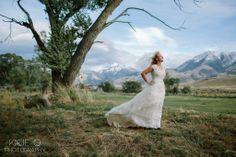 Montana Bride II Montana II Wedding II Gone with the Wind II Kacie Q Photography II Paradise Valley Montana
