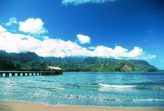 Kauai. Hanalei Bay.  Puff the Magic Dragon formation..