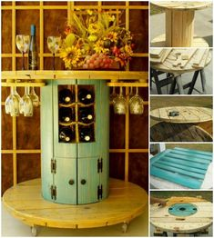 15+ Fab Art DIY Wood Wire Spool Furniture Ideas and Tutorials   www.FabArtDIY.com