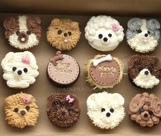 Ideas For Cupcakes Decoration Animals Sweets Puppy Birthday Cakes, Puppy Birthday Parties, Puppy Party, Dog Birthday, Puppy Cupcakes, Puppy Cake, Animal Cupcakes, Pretty Cakes, Cute Cakes