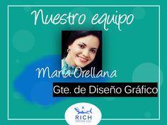 María Orellana, nuestra gerente de diseño gráfico. Una persona comprometida en brindar el mayor de los esfuerzos para lograr la excelencia en todo lo que hacemos ¡Somos #TeamRich! . . . .  #redacción #equipo #marketing #socialmedia #redes #digital #empresa #emprendimiento