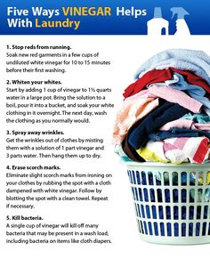 Five ways vinegar helps with laundry