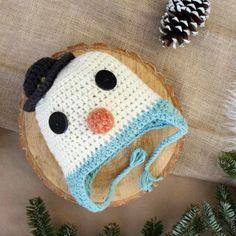 Free Crochet Hat Pattern–a Baby Snowman!