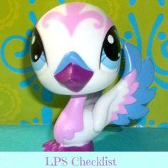 Littlest Pet Shop 3239 White Purple Blue Pretty Swan Bird Lot RARE LPS   eBay