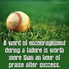 I remember the words of encouragement after a failure or loss, much more then the sounds of praise.might say something about my failure to success ratio? Life Quotes Love, Great Quotes, Quotes To Live By, Me Quotes, Motivational Quotes, Inspirational Quotes, Wisdom Quotes, Sport Quotes, Famous Quotes