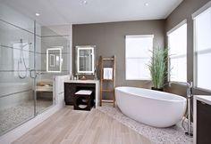 salle de bain baignoire ilot gallais et carrealage