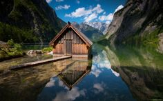Fishing Hut (Germany) - The story of this lonely and abandoned hut is unknown. What we know for sure is that it is located in a breathtaking area. Crystal clear water and silence are spellbinding