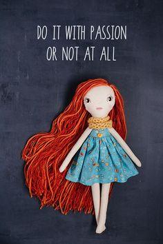 Olivia handmade OOAK doll art doll cloth doll rag doll