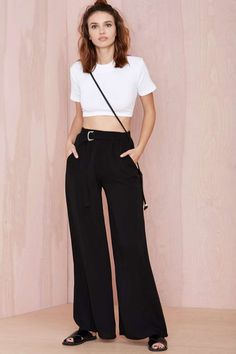 Go With the Flowy Pants - Black | Shop What's New at Nasty Gal