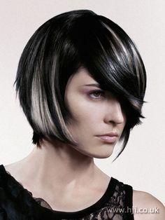 2008 dark asymmetric hairstyle..