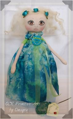 Love Valentine collectible Ooak Art Doll by OCRPrimitiveArts, $60.00