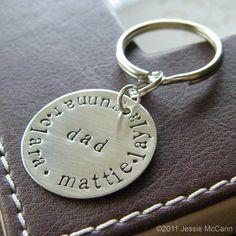 Custom Keychain  Personalized Hand Stamped by jessiemccann on Etsy, $26.00