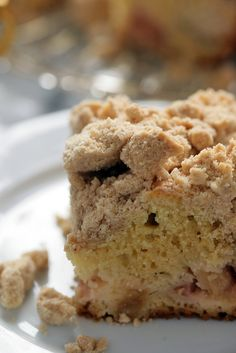NYT Cooking: Rhubarb is an alarmingly sour vegetable passed off as a fruit, but requiring a huge mound of sugar to effect the transformation. Crumb cake is a huge mound of sugar disguised as a cake, but demanding a bracing counterpoint to allay its cloying sweetness. In this cake, the two strike a perfect balance. The extra-large crumbs are made by pinching off marbles of brown s...