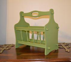 Shabby Chic Magazine Rack Green Recycle Upcycle by LittlestSister, $30.00  @Shilo Niziolek