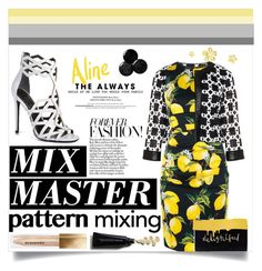 """""""Pattern Mix Master"""" by jessinerio4l ❤ liked on Polyvore featuring Tia, Dolce&Gabbana, Kendall + Kylie, Kate Spade, Burberry and patternmixing"""