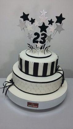 Birthday cake  Black & white