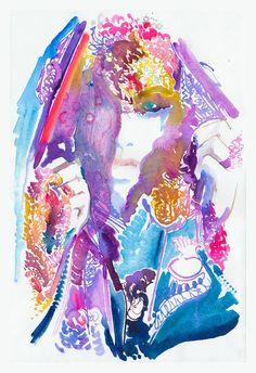 Print of Watercolor painting titled Veil by silverridgestudio, $150.00
