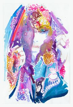 Print of Watercolor painting, titled: Veil. Limited edition print of 25 via Etsy