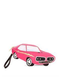 Betsey Johnson  Kitch Race Car Wristlet