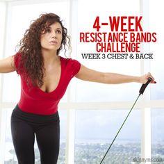 4 Week Resistance Bands Challenge: Week 3 - Chest