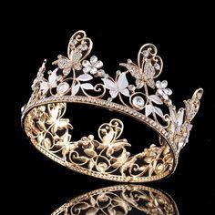 Butterfly Crystal Rhinestone Bridal Tiara Crown Headband Hairband Wedding Prom #Tiara