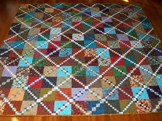 Timeless Treasure. It was in the American Patchwork and Quilting magazine Feb 98. created by Mabeth Oxenreider (triple four patch)