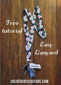 Create Kids Couture: How To Tuesday: Fabric Lanyard