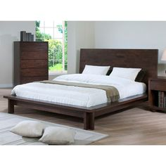 @Overstock - Harvey Wenge Queen-size Bed - The Harvey queen-size bed will add style and elegance to any bedroom, highlighting a wood construction with a stunning wenge finish. This handsome piece is designed for use without a box spring.  http://www.overstock.com/Home-Garden/Harvey-Wenge-Queen-size-Bed/8171192/product.html?CID=214117 $508.99