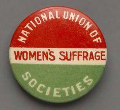NUWSS pin badge