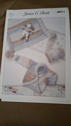 James C Brett JB011 - $1.00 plus postage. (4 available) Baby cardigan, afghan and hat pattern.