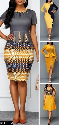 Dresses online for sale Short African Dresses, Latest African Fashion Dresses, African Print Dresses, African Print Fashion, Early Fall Fashion, African Print Dress Designs, African Traditional Dresses, African Attire, Fall Capsule