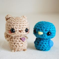 bird amigurumi | Mini Squirrel and Mini Bird Amigurumi