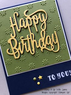 Handmade By Mirella: Hope your birthday is unforgettable - Distress Oxide Water Painting Bday Cards, Birthday Cards For Men, Handmade Birthday Cards, Greeting Cards Handmade, Male Birthday, Happy Birthday Gorgeous, Happy Birthday Images, Cricut Cards, Stampin Up Cards