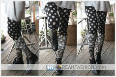 polka dot tights and leggings for women | Lace Polka Dot Striped Leggings Tights for Womens - Detail Pattern